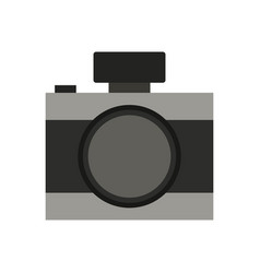 camera icon in on white background vector image