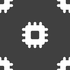 Central processing unit icon sign seamless pattern vector
