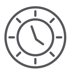 clock line icon watch and hour time sign vector image