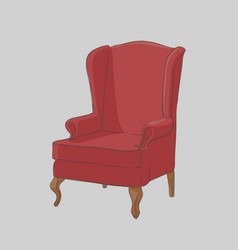 Comfortable armchair for the minister vector