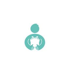 creative body gift logo vector image