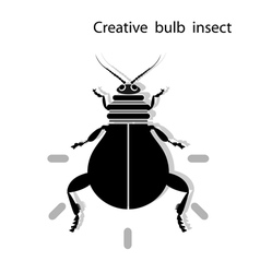 Creative light bulb insect vector image