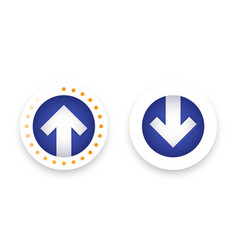 download upload icons buttons with arrow vector image