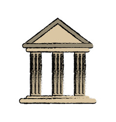 drawing building office bank structure vector image
