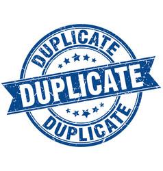 Duplicate round grunge ribbon stamp vector