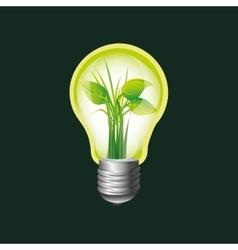 Eco book environment bulb plant graphic vector