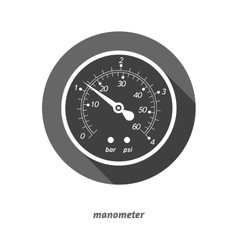 Flat styled manometer vector