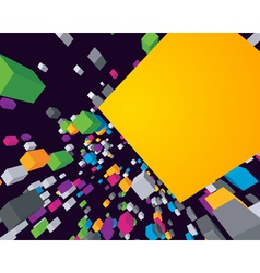 fly colorful 3d cubes background vector image vector image