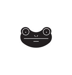 frog black concept icon frog flat vector image