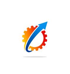 gear up arrow work logo vector image