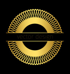 Golden logo template with circle ornament vector