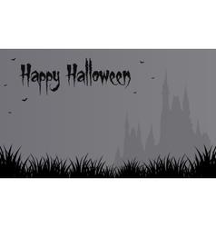 Halloween gray backgrounds big castle vector