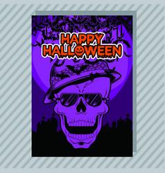 halloween party invitation flyer editable vector image
