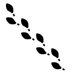 human foot steps vector image