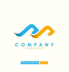initial letter m logo design vector image