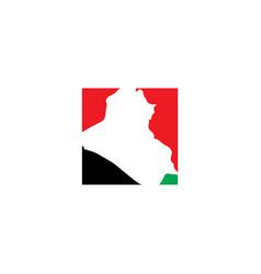 Iraq map logo icon symbol element vector