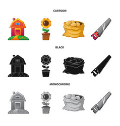 Isolated object of farm and agriculture icon vector