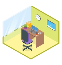 isometric modern office room vector image