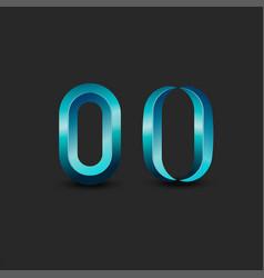 letter o logo monogram or zero 3d symbol vector image