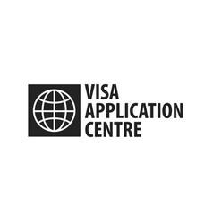 Logo of visa application centre vector