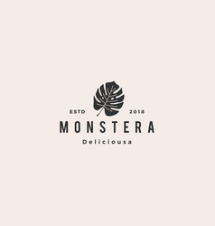 monstera deliciosa deliciousa leaf logo icon vector image