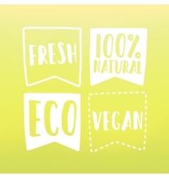 Natural and vegan flag tags vector image