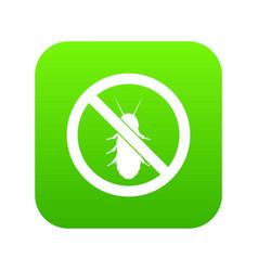No termite sign icon digital green vector