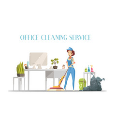 Office cleaning service design concept vector