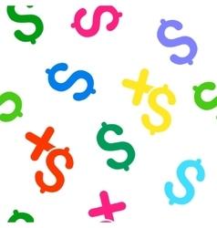 Pay Medicine Flat Seamless Pattern vector image