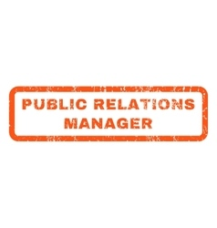 Public Relations Manager Rubber Stamp vector image