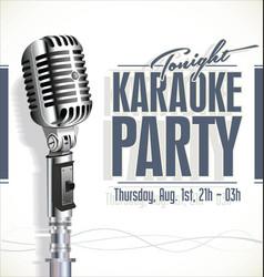 retro vintage microphone karaoke background 9 vector image