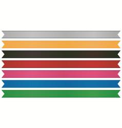 ribbon set tape decor element template vector image