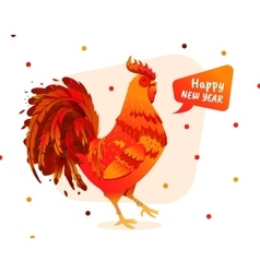 rooster for new year 2017 vector image