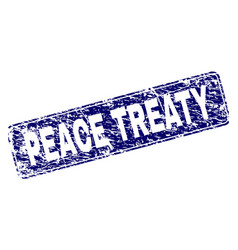 Scratched peace treaty framed rounded rectangle vector