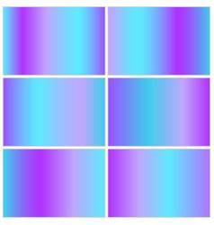 Set blue metallic backgrounds vector