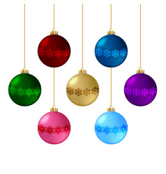 Set christmas balls vector