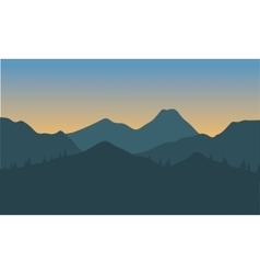 Silhouette hills with gray background vector