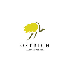 simple ostrich logo vector image