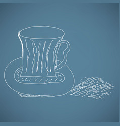 sketch - cup of coffee vector image