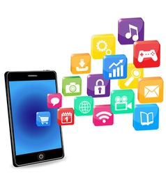 smart phone applications on a white vector image