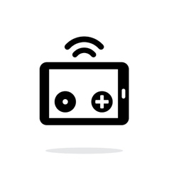 Tablet remote controller simple icon on white vector image