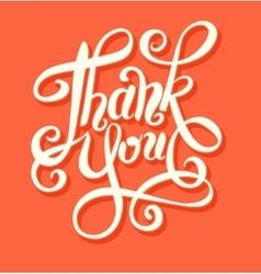 thank you handwritten lettering inscription vector image