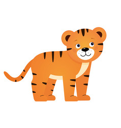Tiger for children vector