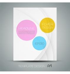 Trendy brochure design in white background vector image