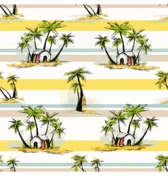 Tropical palm pattern vector