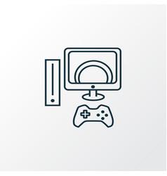 video game icon line symbol premium quality vector image