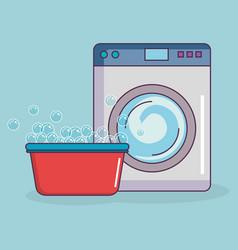 Wash machine laundry service vector