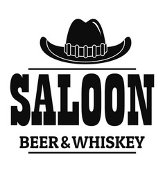 whiskey saloon logo simple style vector image