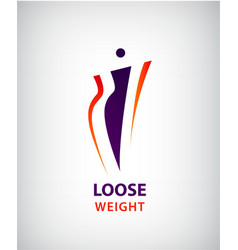 woman shape fat and slim loose weight vector image