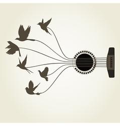 Bird a guitar2 vector image